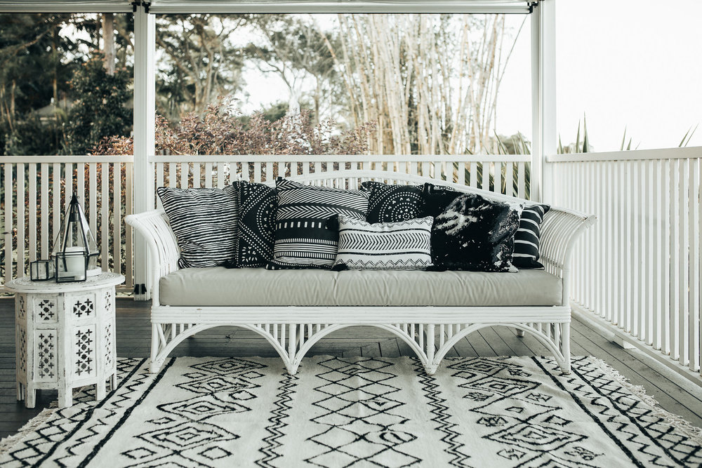 White Wicker Lounge Set | $350 set | Qty 1