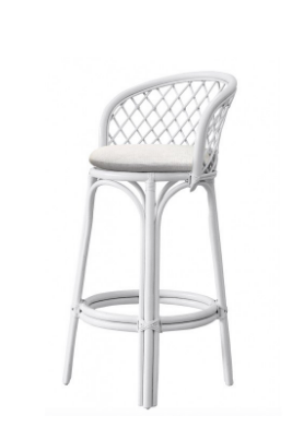 White Panama Bar Stool I $25ea I Qty 12