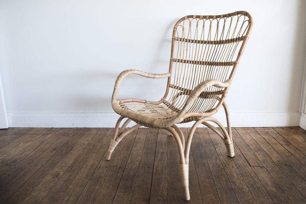 Natural Rattan Lounge Chair I $40ea I Qty 3