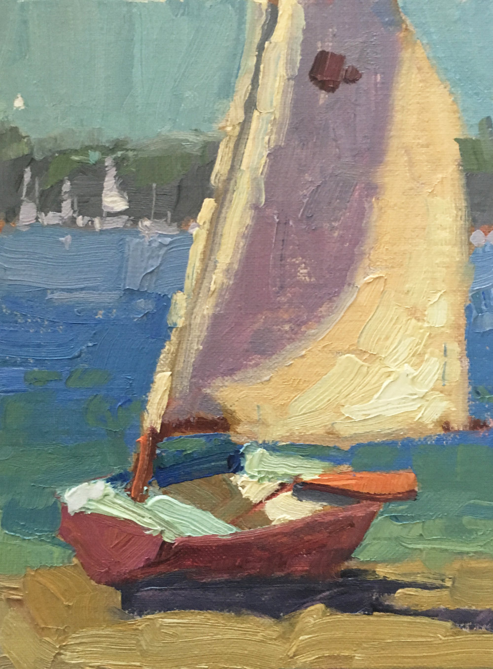 "Detail of ""Sailboat"", 8x6"