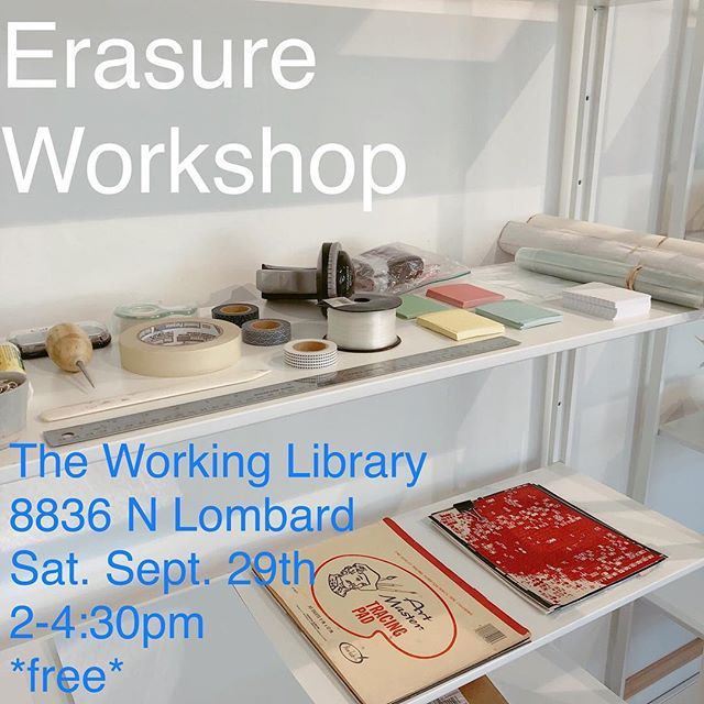 For the next month as artist in residence at The Working Library (@c3initiative ), i (catie) will be hosting a free Saturday workshop series. the first one is this saturday! join me in making the library a home of houses of text of meaning & & &