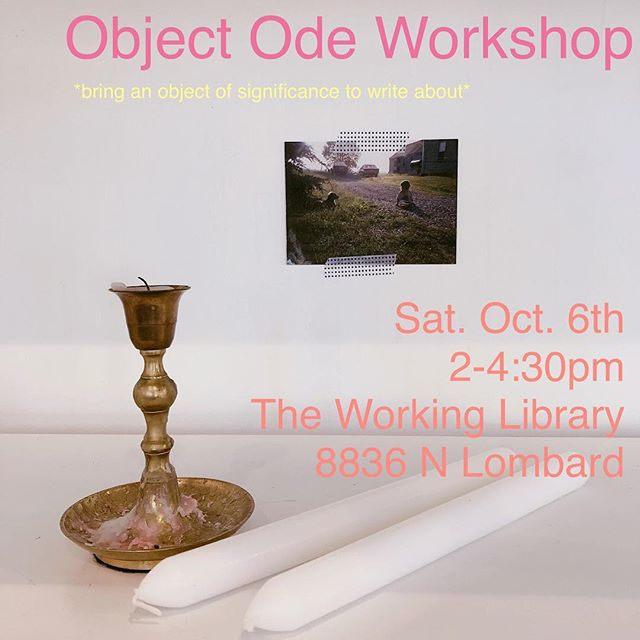 OBJECT ODES: free workshop / this saturday / swipe for details / join us 🗝🕯✉️