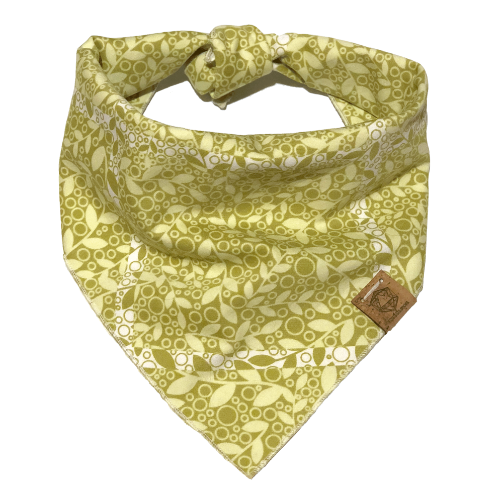 light-green-plants-print-spring-summer-dog-bandana