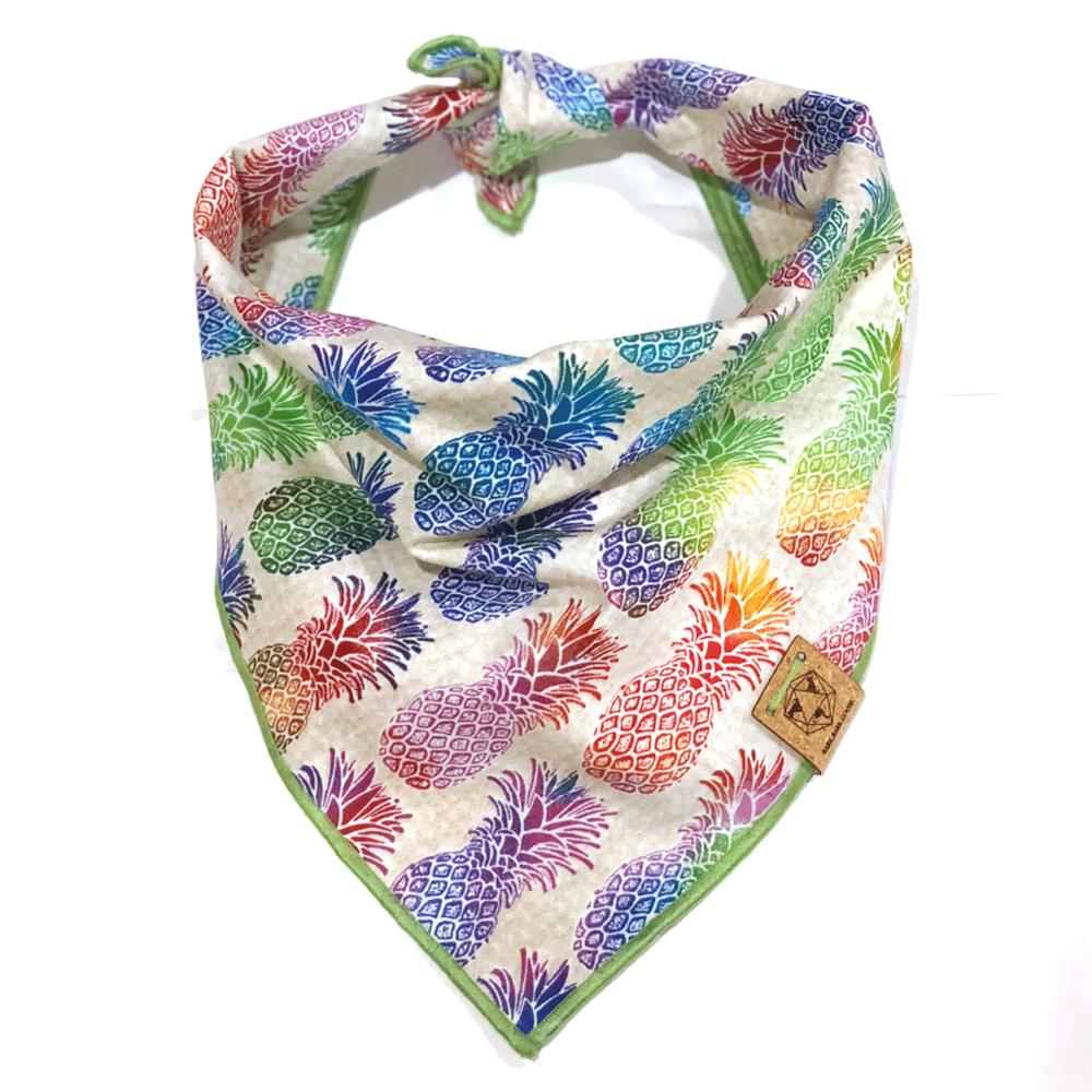 pineapple-print-rainbow-dog-bandana.png