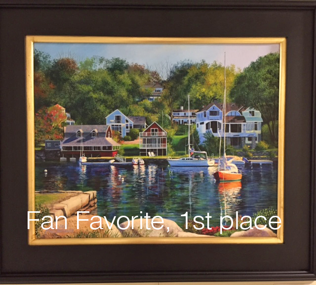 Fan Favorite, 1st Place - Lobster Cove, Annisquam (acrylic) by Lori MacDonald