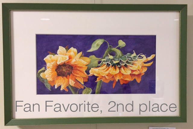 Fan Favorite, 2nd Place (tie) - September 16 (watercolor) by Susan Parente McGillicuddy