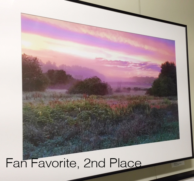 Fan Favorite, 2nd Place (tie) - Sunset over Heath Meadow (photo) by Kathy Sferra