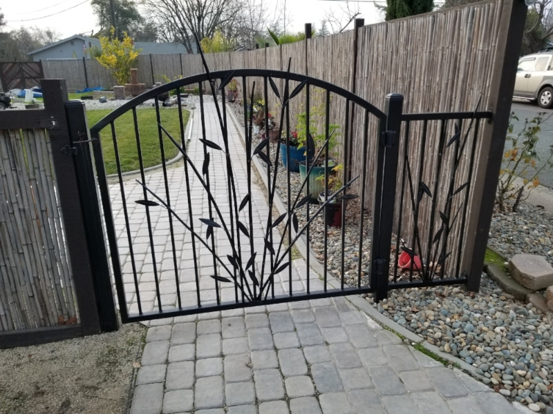 Installed Metal Gate in Sacramento Home