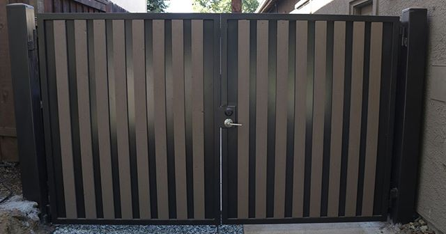 Iron and wood side gate for a new home in Folsom. At first, the customer just wanted iron, however, later they asked if they could add wood and we were happy to oblige! What's a more beautiful way to enter your backyard than with an elegant and inviting side gate? ⠀ ⠀ ⠀ ⠀ ⠀ ⠀ ⠀ ⠀ ⠀ #newhomefolsom #irishiron #ironworking #folsom #sacramnetohomes #homeowner #realestatefolsom #irongate #ornamentaliron #newhome