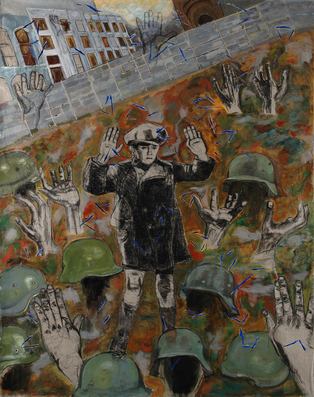 4.-Ono-Warsaw-Ghetto-Uprising-Victoire-d'Une-Defaite-2009.-Charcoal-and-acrylic-on-canvas-2-x-1.49-m-x.jpg