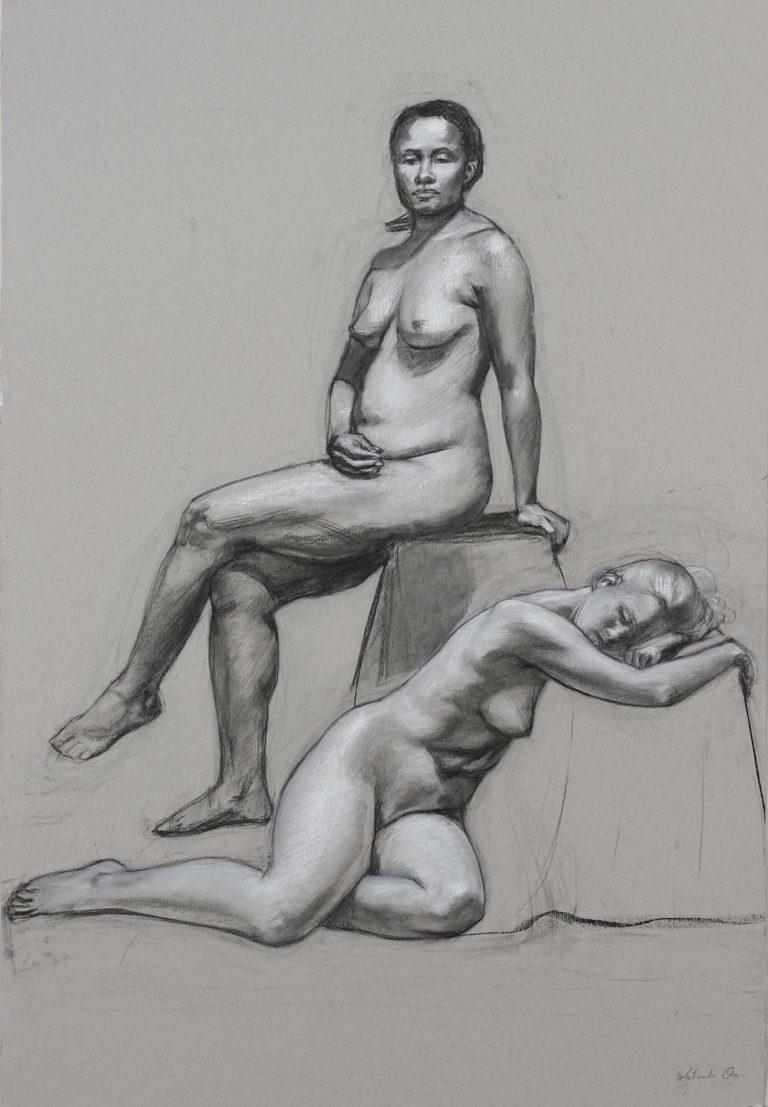Ono-Nicole-et-René-Fall-2007-Charcoal-on-paper-69-cm-x-102-cm-x-768x1107.jpg