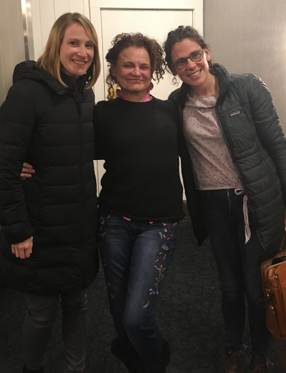 This photo was taken at a Vermont Businesses for Social Responsibility gathering in Montpelier. Sara Newmark of Brattleboro's New Chapter, a highly responsible Brattleboro-based company, appears on the right .