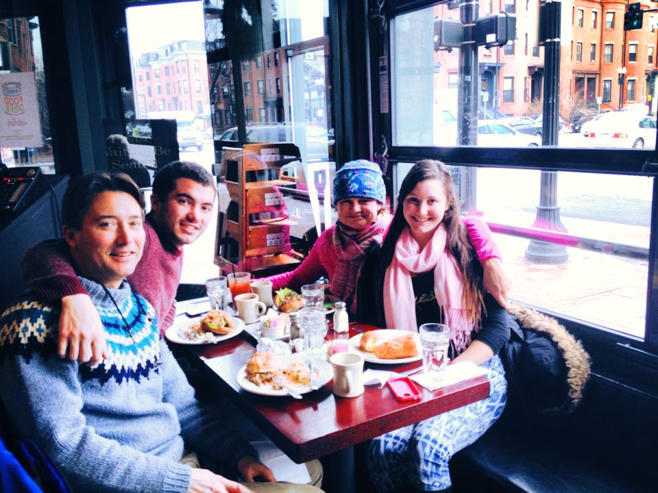 Brunch in Boston with my family.