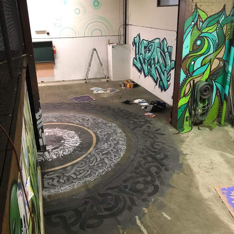 Dozers Warehouse | Floor Mandala