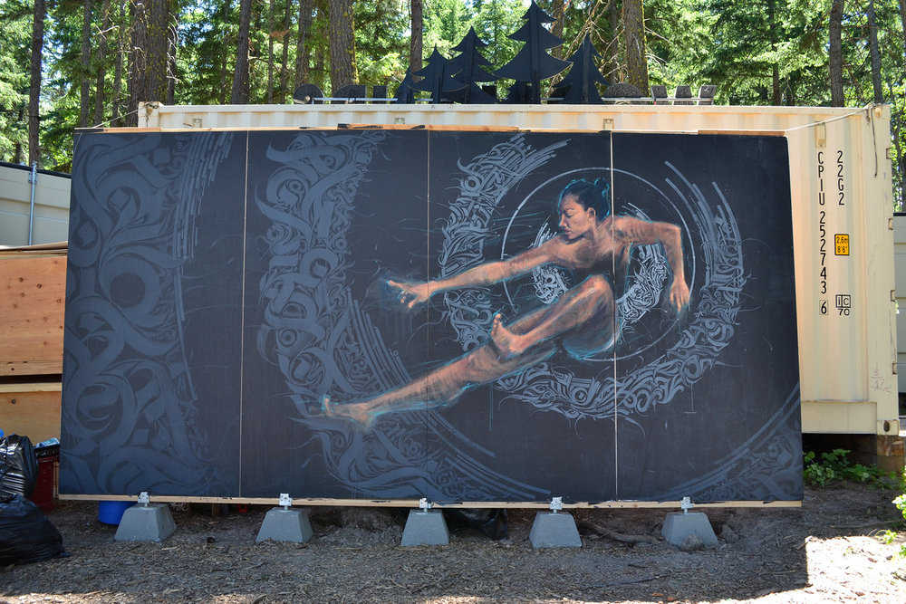 Circulate | What The Festival?! Mural Installation