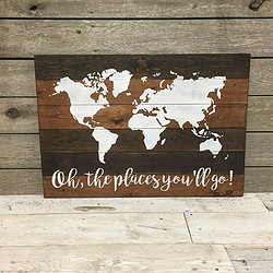Travel world maps durham custom wood decor oh the places you will go world map gumiabroncs Images
