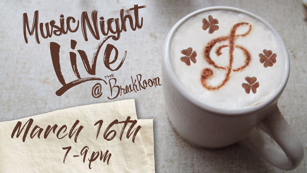 Join us for some great local talent and great local coffee.  Featuring:  Keith Richards  Trillium Jack  Hollow and the Sun  Atom Dive  Underdog of the Year  Come check us out for a night of local entertainment...