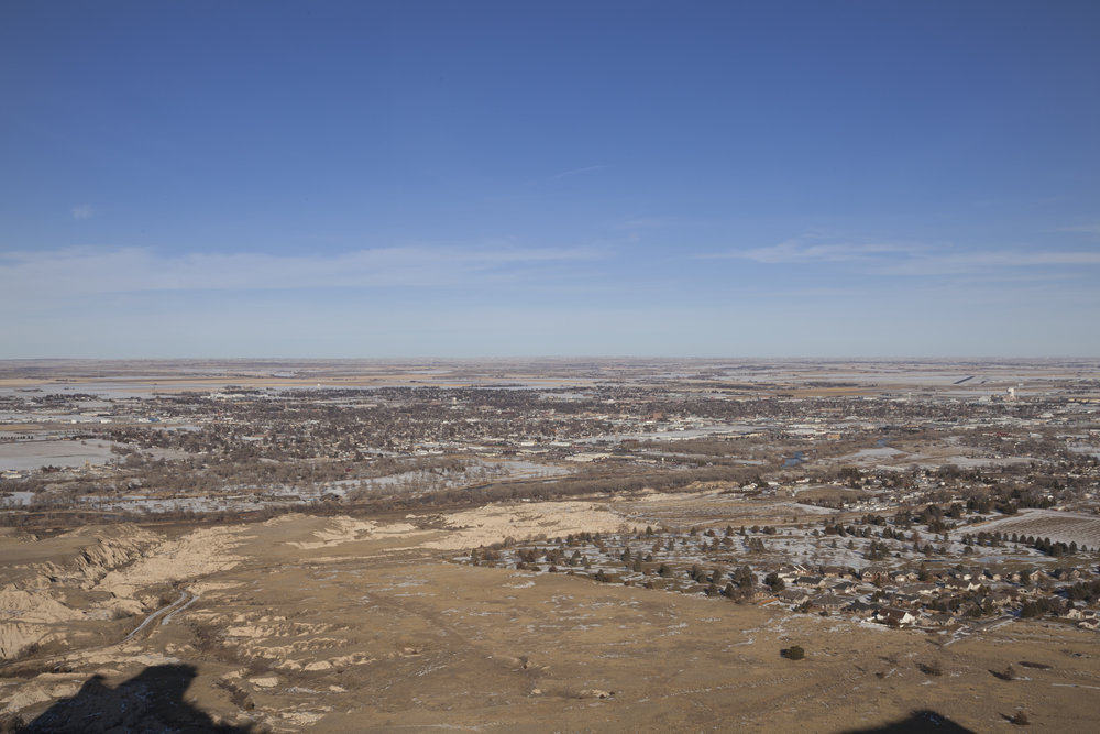 Overlooking downtown Scottsbluff (Photo: Michael Catarineau)