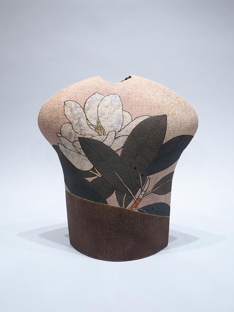 ITO Motohiko   Nunome Technique Magnolia Flower Vase