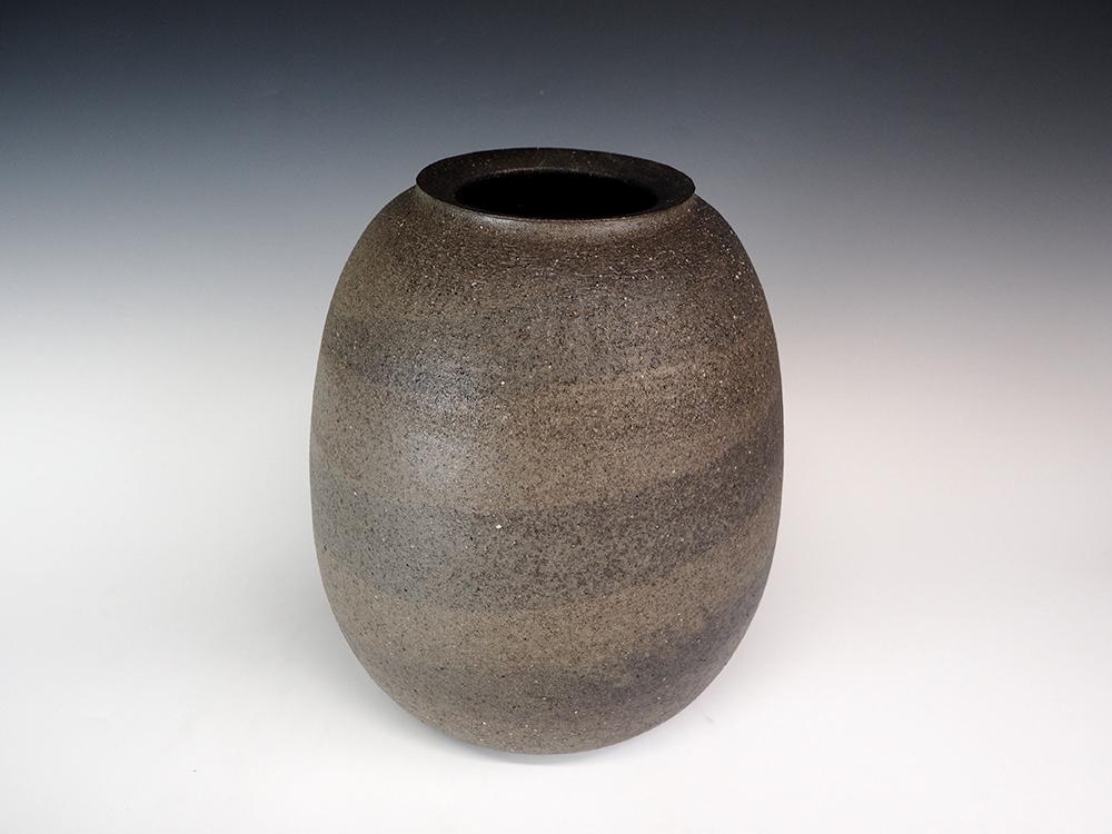 ONODERA Gen Suzu style Marbled clay Jar1.jpg