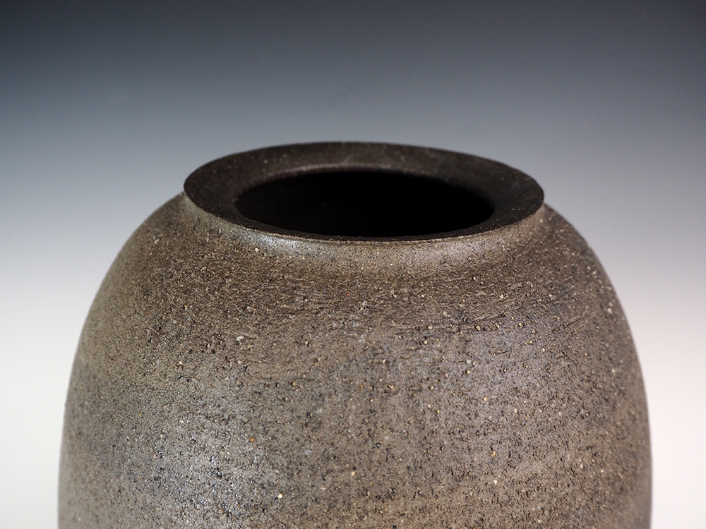 ONODERA Gen Suzu style Marbled clay Jar2.jpg