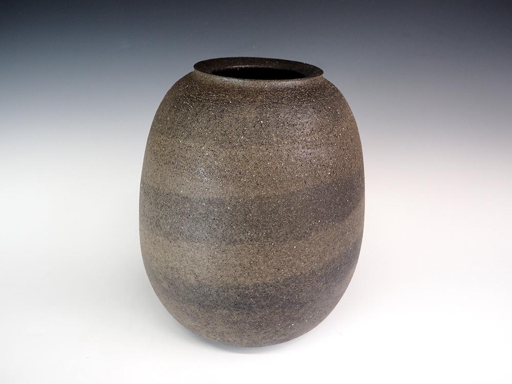 ONODERA Gen Suzu style Marbled clay Jar3.jpg