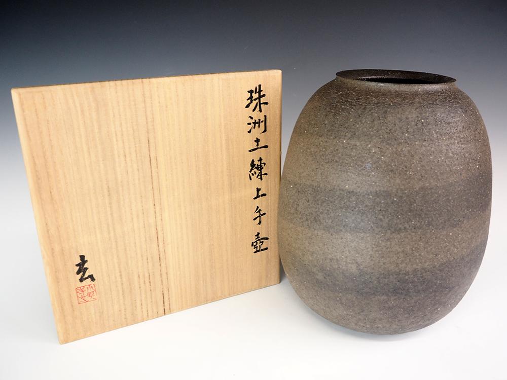 ONODERA Gen Suzu style Marbled clay Jar6.jpg