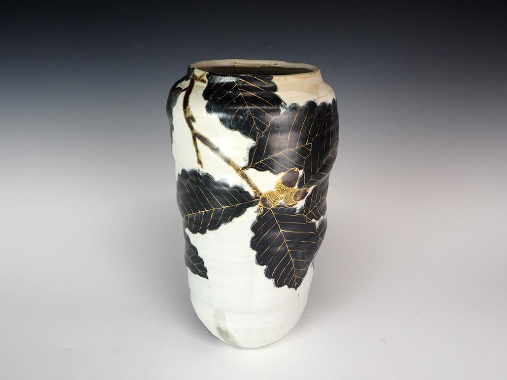 FURUKAWA Takahisa Oak Pattern Flower Vase1.jpg