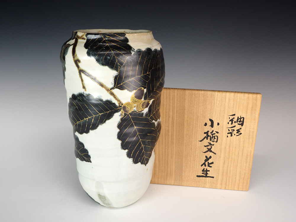 FURUKAWA Takahisa Oak Pattern Flower Vase6.jpg