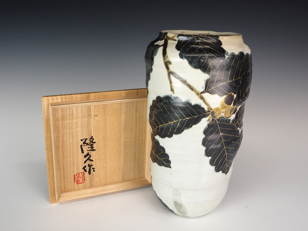 FURUKAWA Takahisa Oak Pattern Flower Vase7.jpg