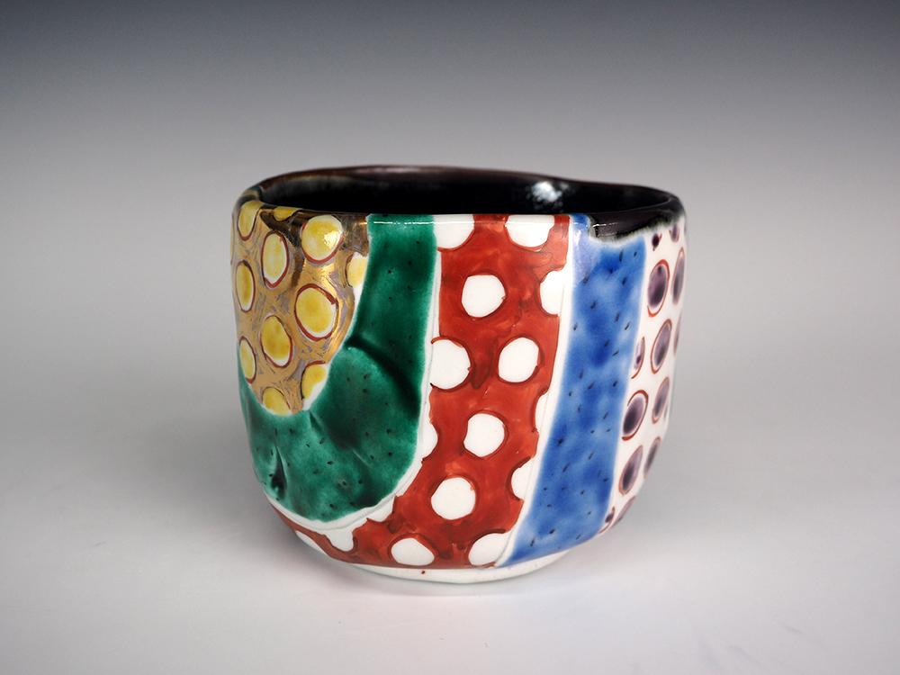 MATSUDA Yuriko | Colorful Kutani Polka-Dot Tea Bowl