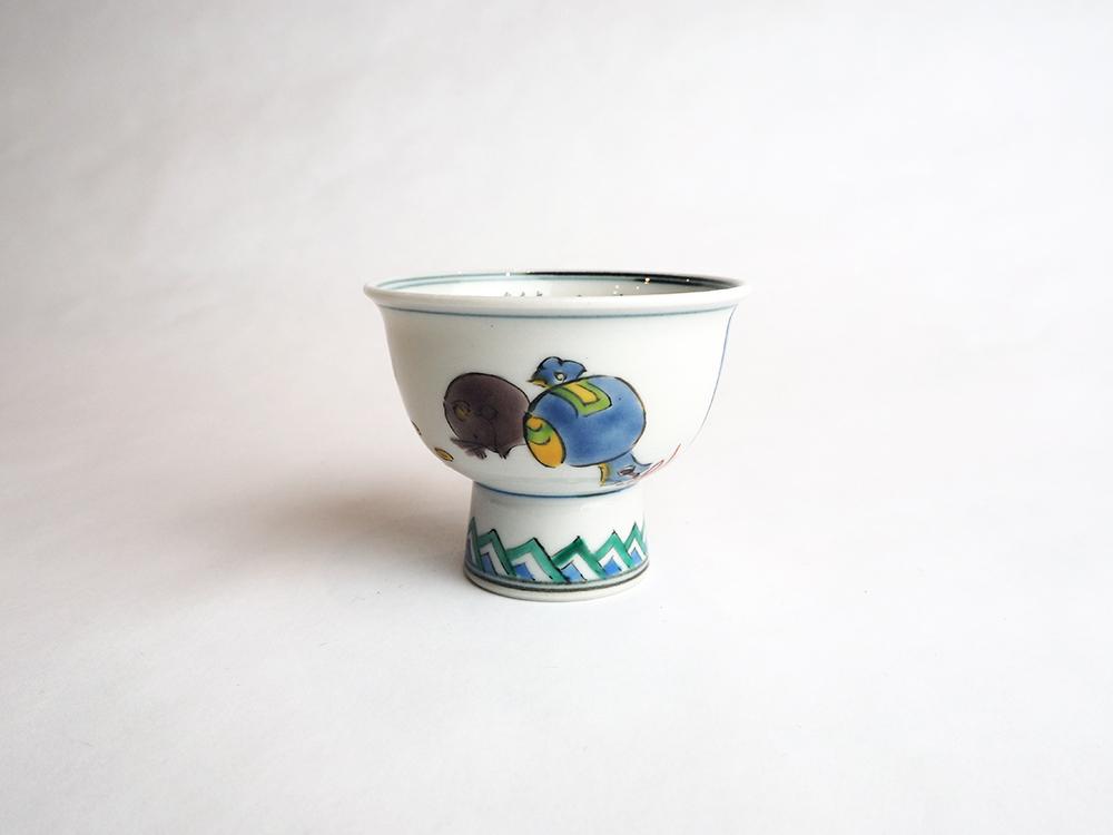 TAMURA Keisei | Micro Calligraphy Sake Cup Mice