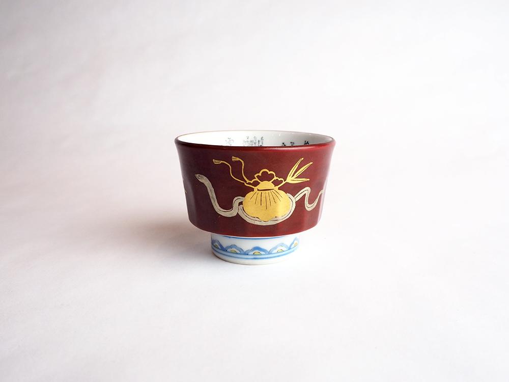 TAMURA Keisei   Micro Calligraphy Sake Cup Snake