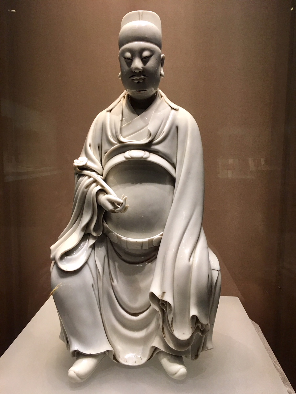 God of literature, Ming Dynasty, glazed white porcelain