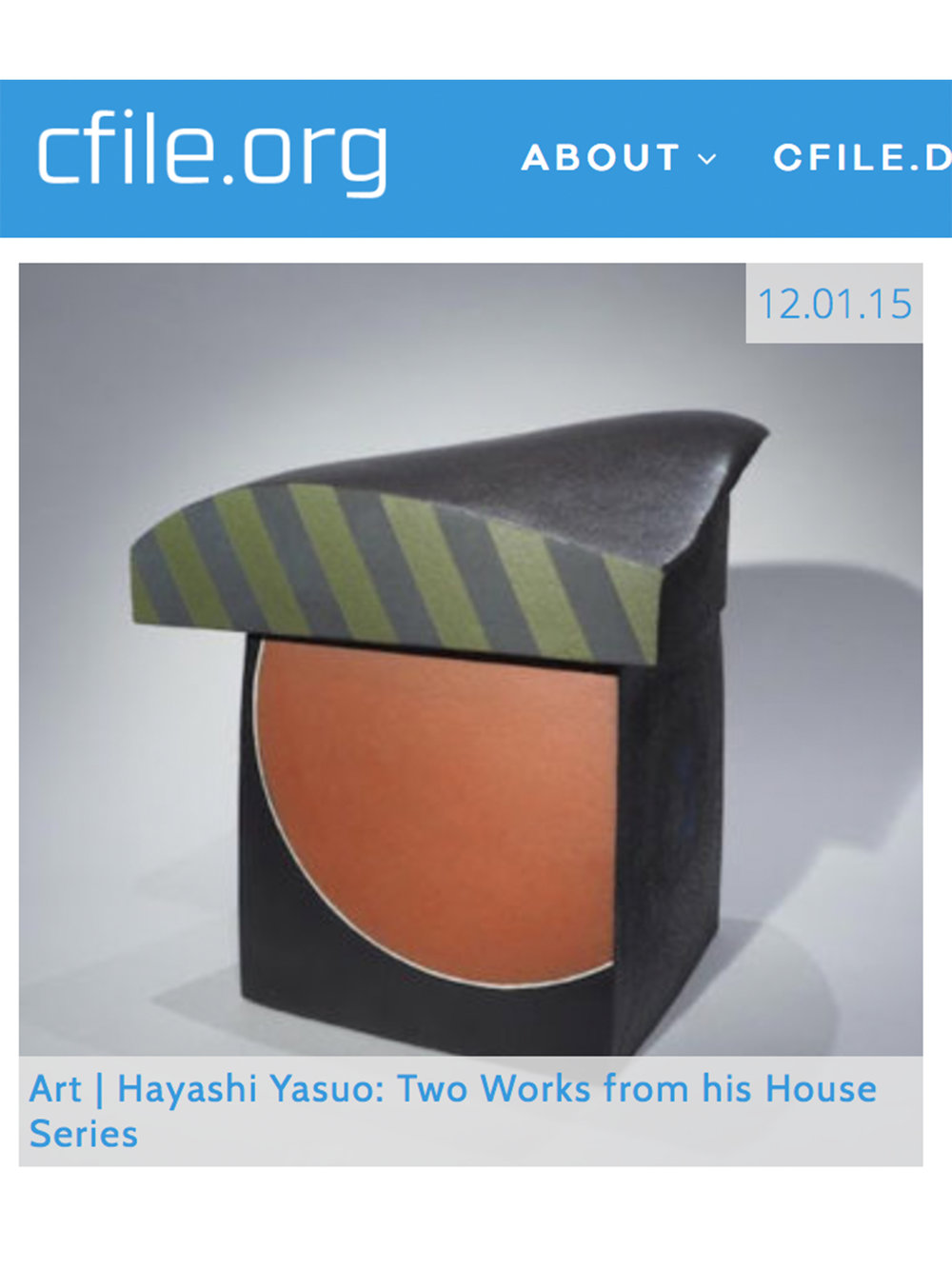 12/01/15 | C File.org : Art | Hayashi Yasuo: Two Works from his House Series