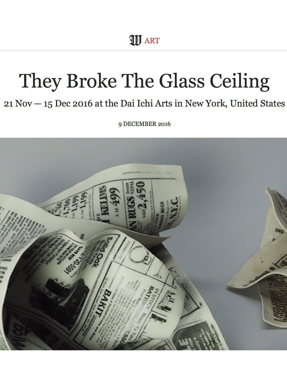 12/09/16   Wall Street International Magazine : They Broke The Glass Ceiling