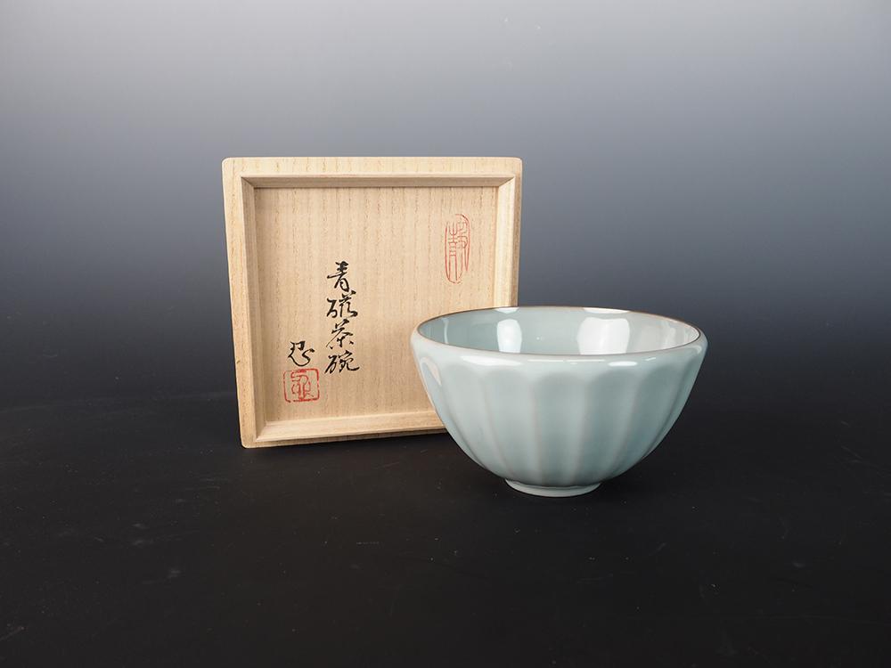 KAWASE Shinobu Celadon Tea Bowl-1.jpg