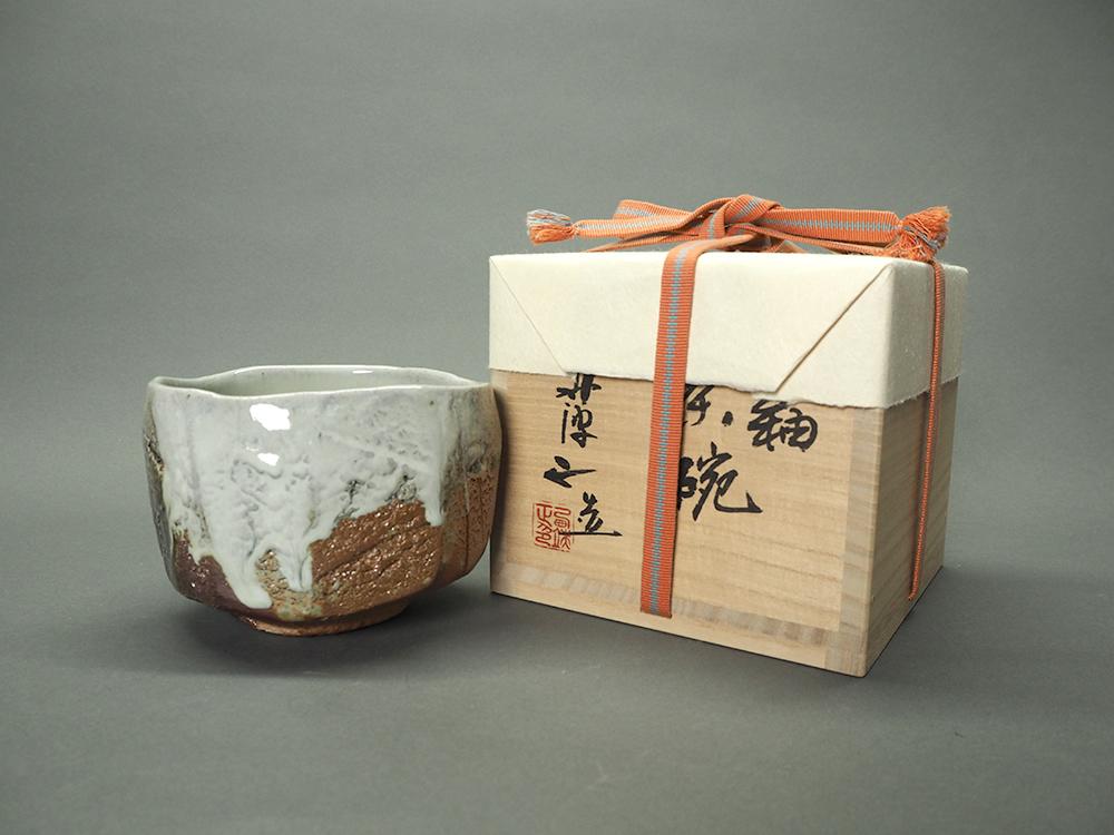 NISHIHATA Tadashi Ash Glazed White Tea Bowl5.jpg