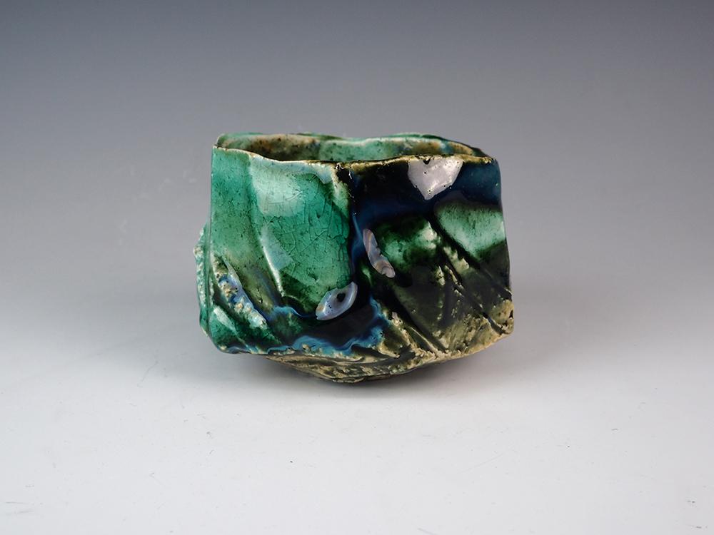 YAMAGUCHI Masato Oribe Tea Bowl-1.jpg