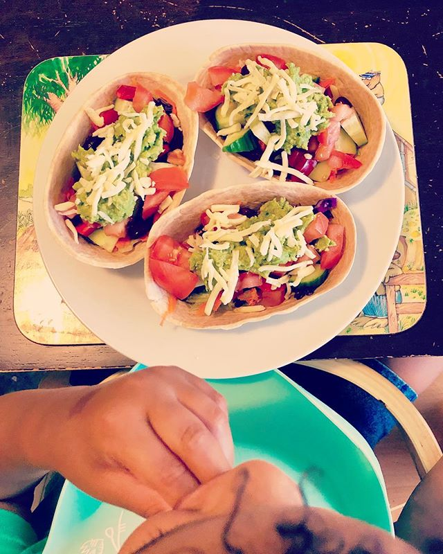New Favourite Toddler Meal! 👍👍 ... I'm loving these boat tortilla's and so is my son! I just wish they came in wholemeal. So easy and fun for child hands to hold and eat. I added salsa, guacamole, sauce (bean, capsicum, onion, mushrooms, garlic) with cheese on top ... Winner!! 🙌🙌🥇🥇 ... #childhealth #fussyeaters #fussyeating #perthkids #perthkidz #babyallergies #weaning #firstfoods #babyfood #growthspectrum #toddlerfoodideas #childnutrition #vegetarianrecipes #plantbaseddiet #childfriendlymeals #mealtimes #paediatricdietitian #mum #mumlife #tortilla #fussyeaters #postnatalsupport #dietitianmum #postpartummum