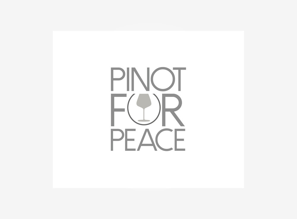 PINOT FOR PEACE  Pinot for Peace is a global initiative that raises funds to educate and generate awareness around sustainable growing methods such as biodynamic farming, bringing together local communities.    Raise your glass. In Pinot we trust.