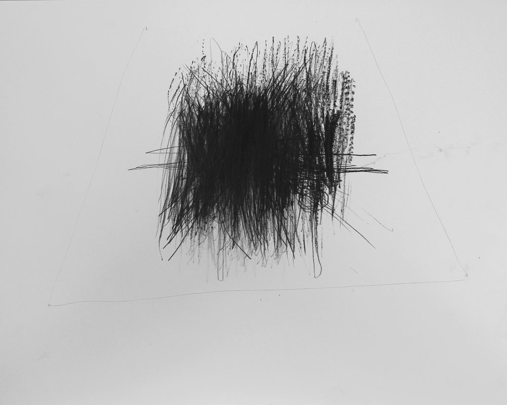 Sound Drawing , charcoal on paper, 2015