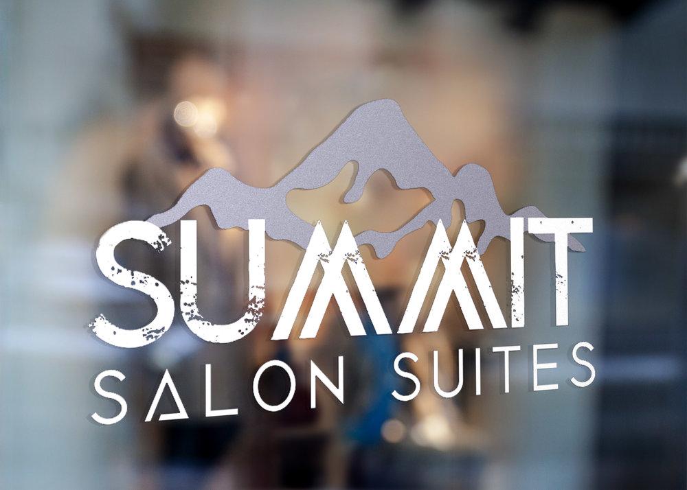 summit salon suites, hair salon - Designed on Adobe Illustrator.