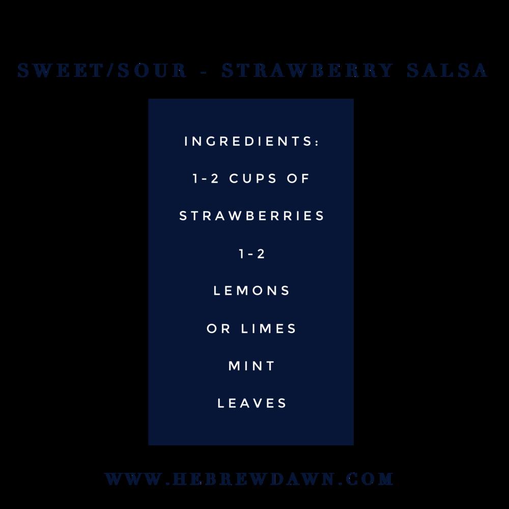 HebrewDawn: Sweet/Sour - Strawberry Salsa