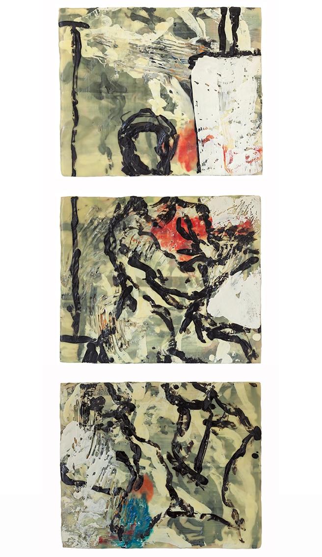 Randal-Arvilla-Figure-Triptych-II-Encaustic