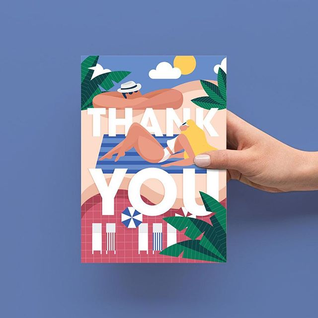 No no thank you! Fun wee post wedding thank you card created for dear friends @sophie_edmonds and @dylanpine
