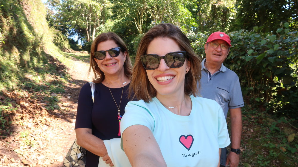 My parents and I in the mountains of Panama (Boquete)