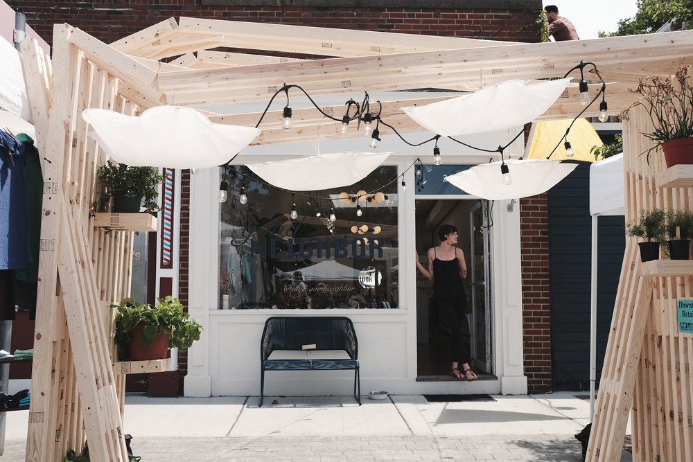 Check out the booth constructed by  Good Neighbor  , one of the great maker-focused retailers on Cabot Street.