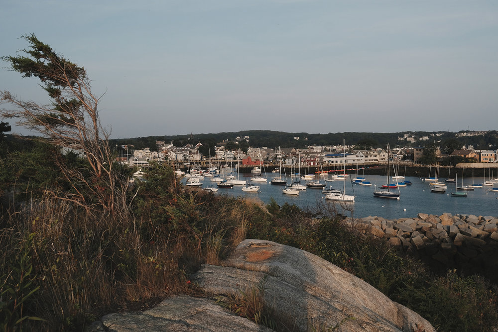 View of Rockport Harbor from the Headlands