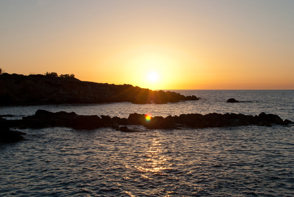 Solnedgangen på Kreta er magisk ...